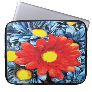 Fun Gerber Daisy Blue Orange Daisies Flower Laptop Sleeves