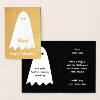 Fun ghost design for kids foil card