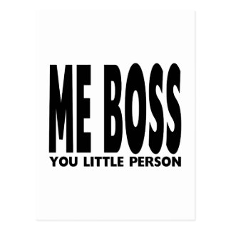 Fun Gifts for Bosses : Me Boss You Little Person Postcards