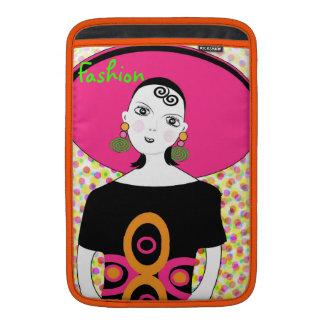 Fun Girly Retro Fashion Illustration Sleeve For MacBook Air