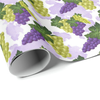 Fun Grapes pattern party wrap Wrapping Paper