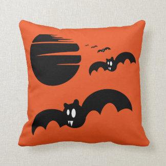 Fun Happy Halloween Trick or Treat Bats Throw Cushion