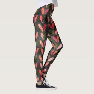 Fun Hearts Pattern Shimmer Leggings