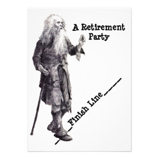 Fun Humor Man Reaching Retirement Party Invitation