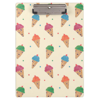Fun Ice Cream Pattern Clipboard