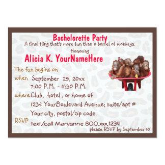 Fun Leopard Print Bachelorette Party Card