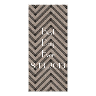 Fun & Modern Kraft Wedding Program Custom Rack Card