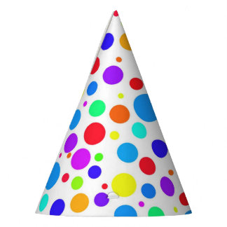 Fun Multi Colored Spots Party Hat