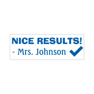 """Fun """"NICE RESULTS!"""" Grading Rubber Stamp"""