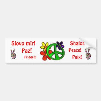 FUn Peace Sign Bumper Sticker