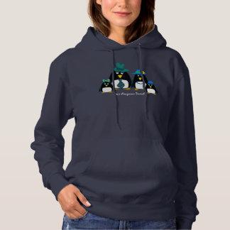 Fun Penguin Family of 4 Christmas Hoodie