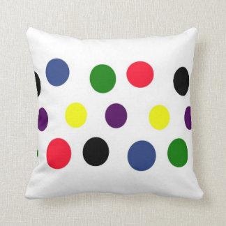 Fun Polka Dot Colors Throw Cushions