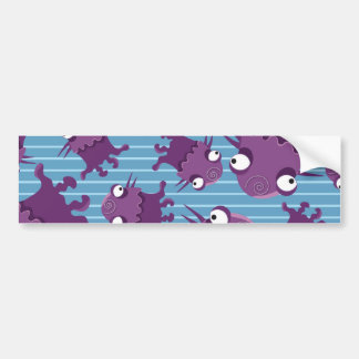 Fun Purple Monsters Creatures Blue Gifts for Kids Bumper Sticker
