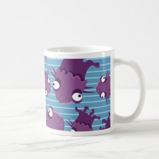 Fun Purple Monsters Creatures Blue Gifts for Kids Classic White Coffee Mug