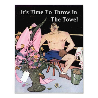 FUN RETIREMENT PARTY INVITATION Throw In The Towel