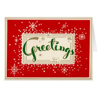 Fun Retro Greetings Christmas Card