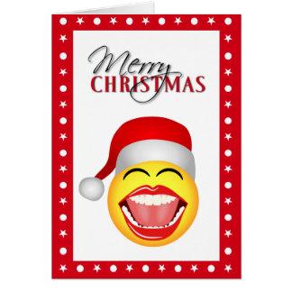 Fun Santa Smiley Funny Christmas Cards