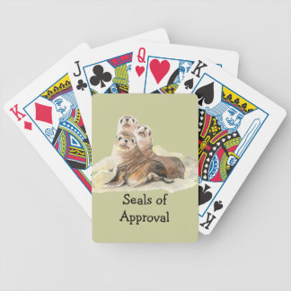 """Fun """"Seals of Approval"""" with Cute Watercolor Seals Playing Cards"""