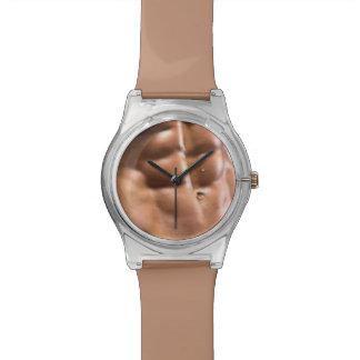 Fun Six-Pack Abs Custom Watch
