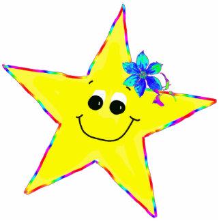 Fun Smiley Star Pin Photo Sculpture