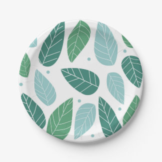 Fun Spring Leaves Paper Plate