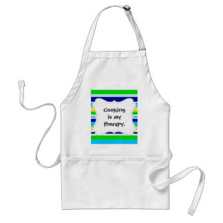Fun Summer Striped Teal Lime Yellow Blue Gifts Standard Apron
