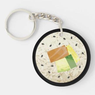 Fun Sushi Keyring Double Sided Acrylic Keychains