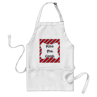 Fun Teal Turquoise Red Diagonal Stripes Gifts Standard Apron