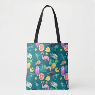 Fun Tropical Summer Pattern Tote Bag
