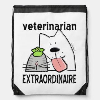 Fun Veterinarian Extraordinaire Drawstring Bag