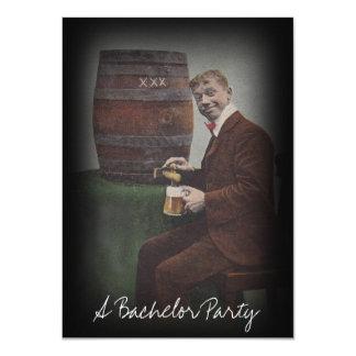 Fun Vintage Bachelor Party Keg Tap Guy Invitation
