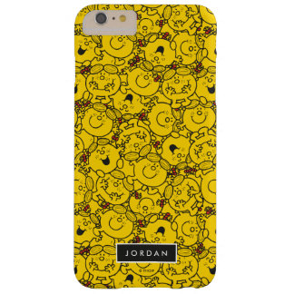 Fun Yellow Smiles Pattern | Add Your Name Barely There iPhone 6 Plus Case