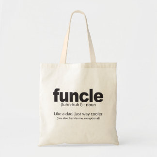 Funcle Definition Funny Quote Tote bag