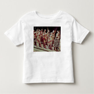 Funerary model of marching armed soldiers tshirt