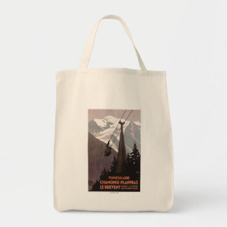 Funiculaire Le Brevent Cable Car Poster Grocery Tote Bag