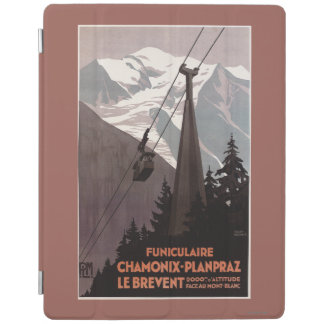 Funiculaire Le Brevent Cable Car Poster iPad Cover