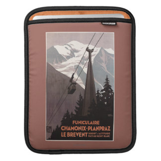 Funiculaire Le Brevent Cable Car Poster iPad Sleeve