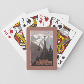 Funiculaire Le Brevent Cable Car Poster Poker Cards