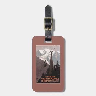 Funiculaire Le Brevent Cable Car Poster Tag For Luggage