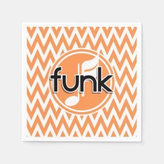 Funk; Orange and White Chevron Paper Serviettes