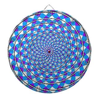 Funkadelic Hippy Trendy Dart Board purple Spirals