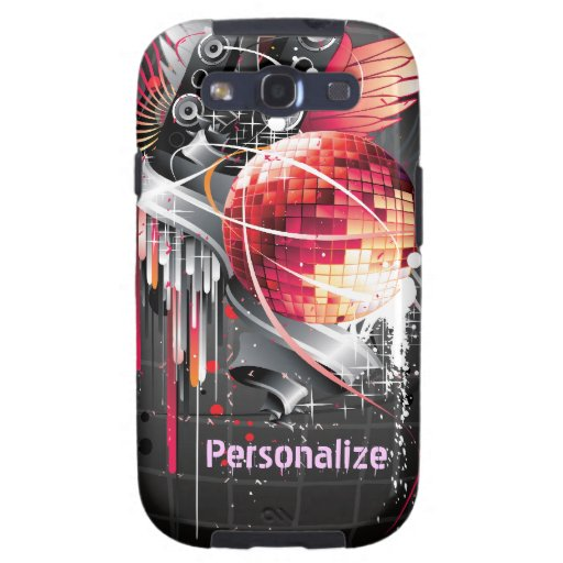 Funky Abstract Disco Ball Music Design Samsung Galaxy SIII Case
