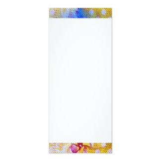 Funky Abstract Lollipop Swirl Pattern Roses Birds 10 Cm X 24 Cm Invitation Card