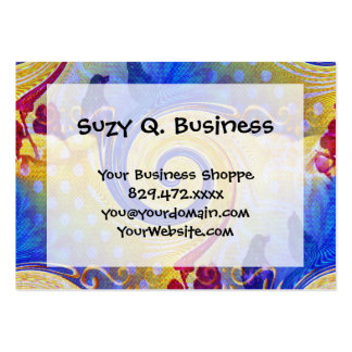 Funky Abstract Lollipop Swirl Pattern Roses Birds Pack Of Chubby Business Cards