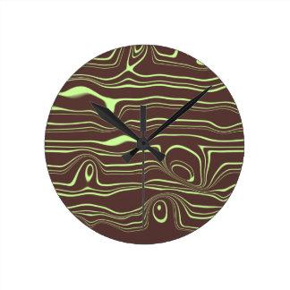 Funky Abstract Woodgrain Clock