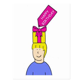 Funky Birthday Hair Postcard