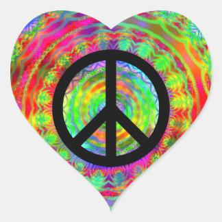 Funky Black Peace Sign Sticker