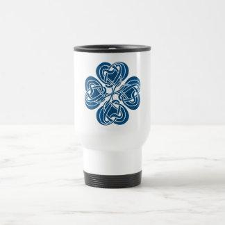 Funky Blue Celtic Knot Travel Mug