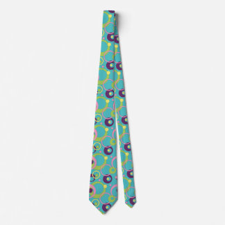 Funky Blue Circles Men's Neck Tie