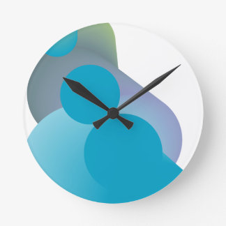 Funky blue modern design wall clocks